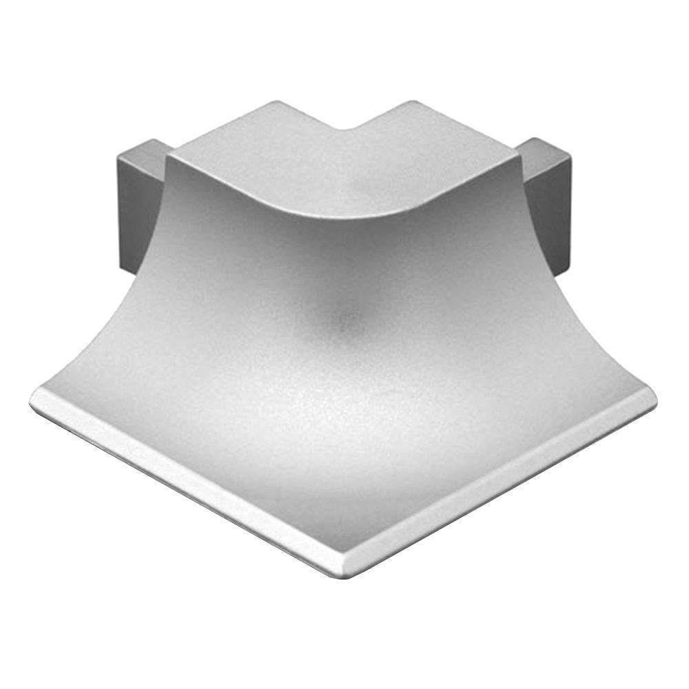 Dilex-AHKA Satin Anodized Aluminum 9/16 in. x 1 in. Metal 90 Degree Outside Corner