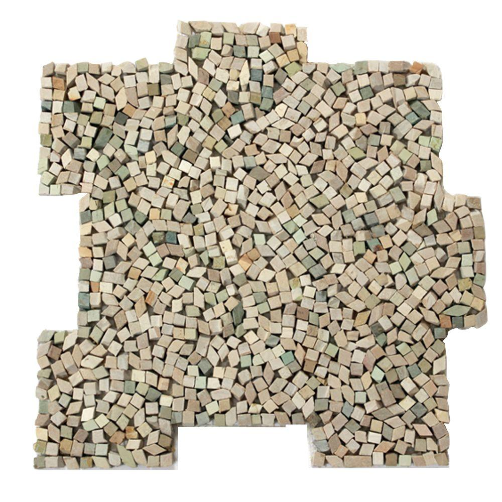 Solistone Palazzo Fortuna 12 in. x 12 in. x 6.35 mm Decorative Pebble Mosaic Floor and Wall Tile (10 sq. ft. / case)