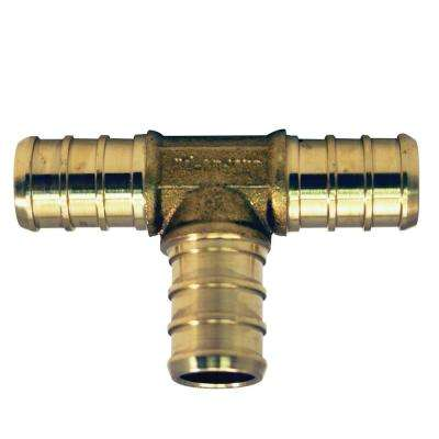 1/2 in. x 1/2 in. x 1/2 in. Brass PEX Barb Tee (50-Pack)