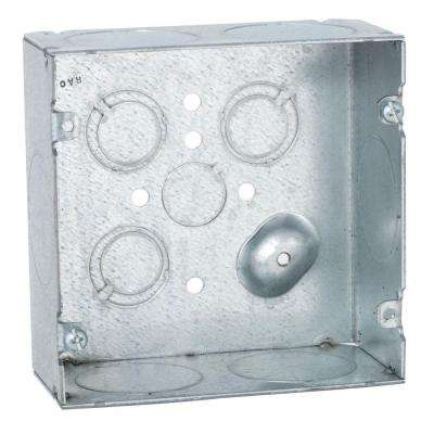 4-11/16 in. Square Welded Box, 2-1/8 in. Deep with 1-1/4 in. KO's (25-Pack)