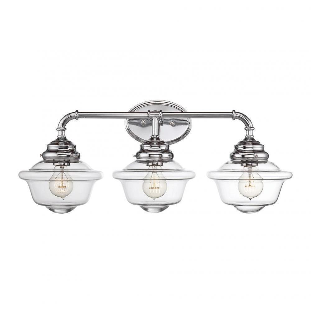 McKay 3-Light Chrome Bath Vanity Light