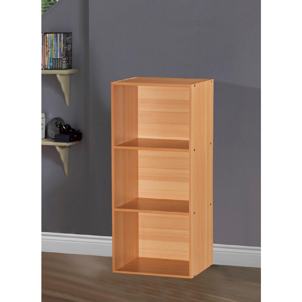 3-Shelf, 36 in. H Beech Bookcase