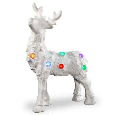 25 in. Lighted Reindeer Decor Piece