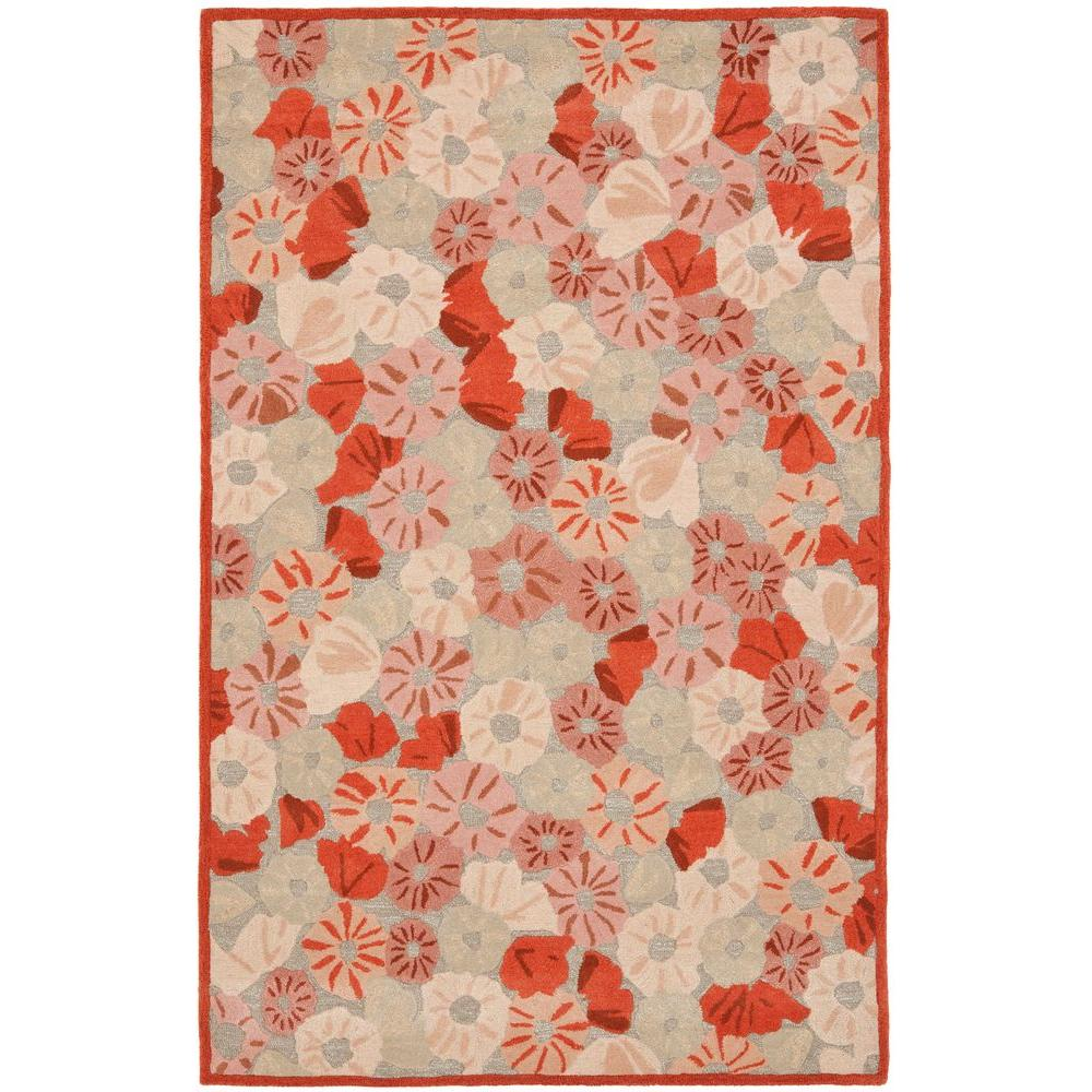 Safavieh Poppy Field Cayenne Red 8 Ft X 10 Ft Area Rug Msr3625b 8 The Home Depot
