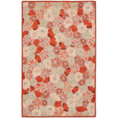 Poppy Field Cayenne Red 8 ft. x 10 ft. Area Rug