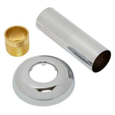0.75 in. Inlet Pipe Assembly, Polished Chrome