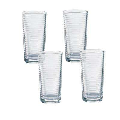Doro 16.75 oz. Clear Cooler Glasses (4-Pack)
