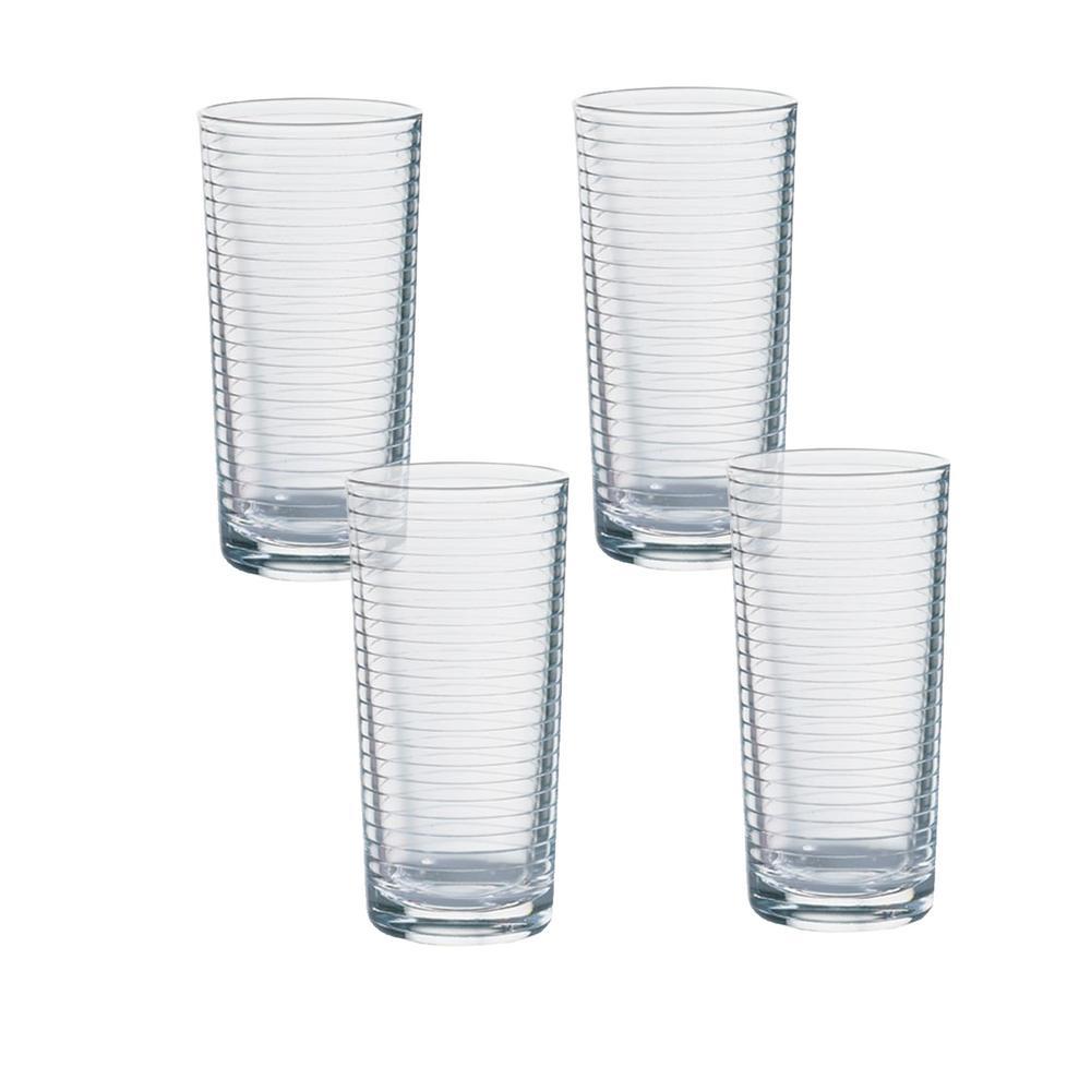 Doro 16.75 oz. Clear Cooler Glasses (4-Pack)
