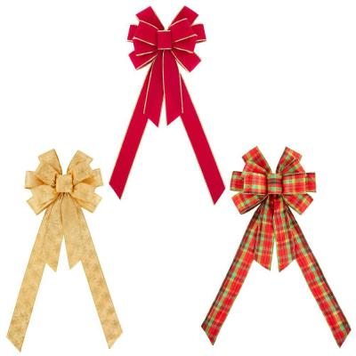 12.5 in. x 8.25 in. Decorative Tree Topper Bow