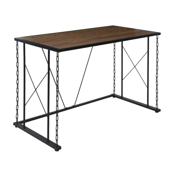 OneSpace Folsom Ridge Desk, with wood and black chain link metal