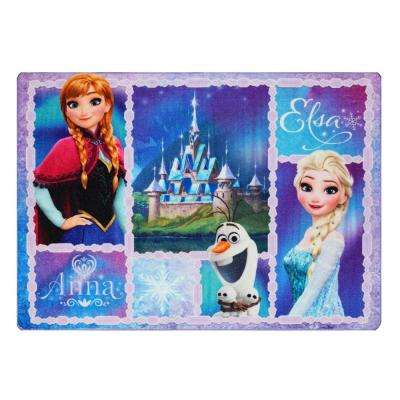 Frozen Purple 5 ft. x 7 ft. Northern Patchwork Juvenile Area Rug