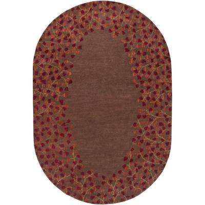 Scandicci Brown 6 ft. x 9 ft. Oval Area Rug