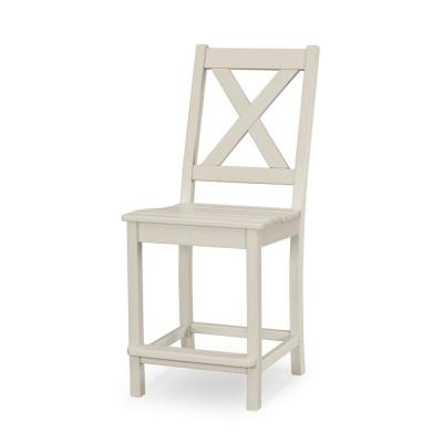Braxton Sand Counter Plastic Outdoor Dining Chair