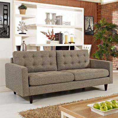 Empress Oatmeal Upholstered Fabric Sofa
