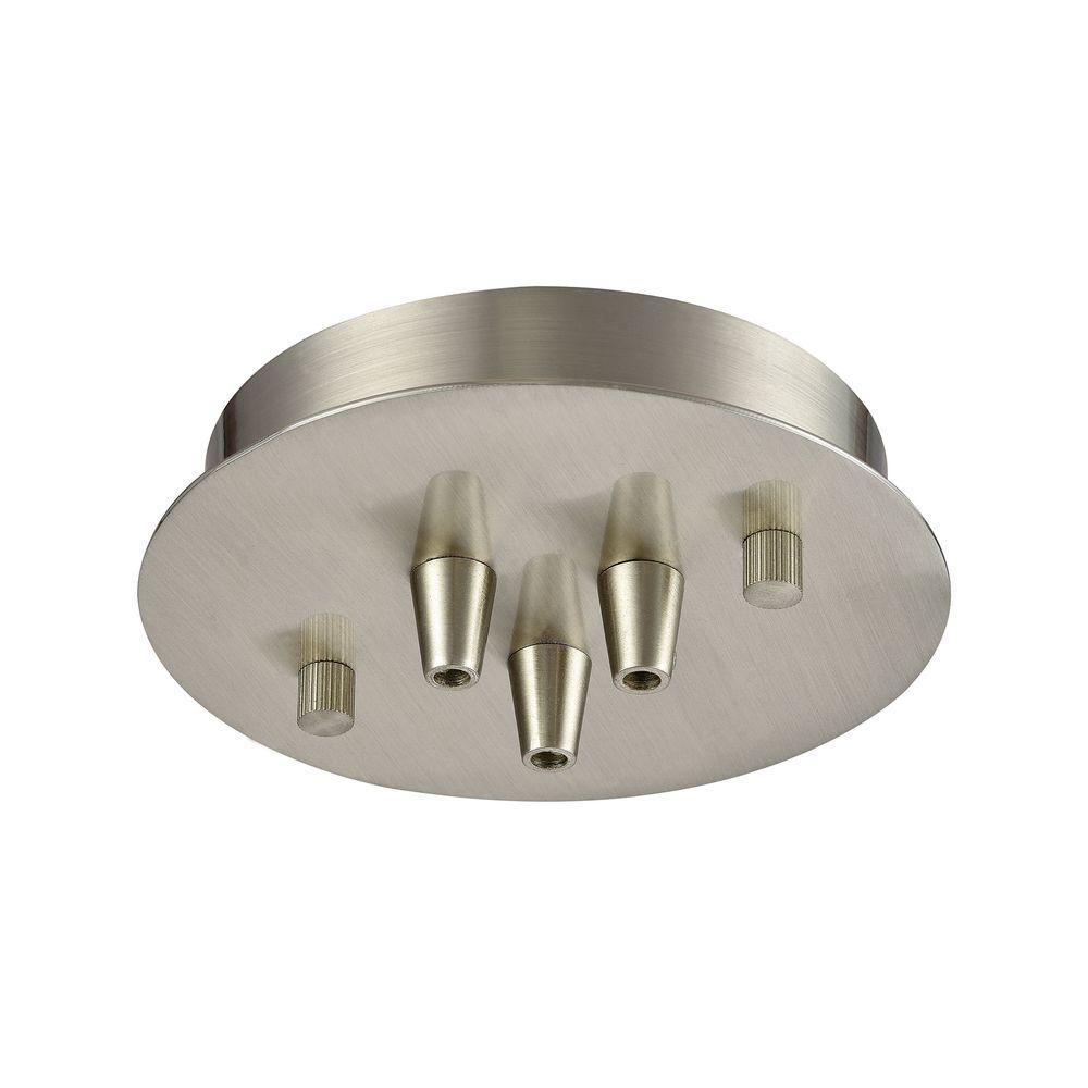Illuminaire Accessories 3-Light Satin Nickel Small Round Canopy