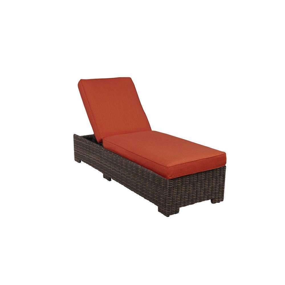 Brown Jordan Northshore Patio Chaise Lounge with Cinnabar Cushions -- CUSTOM