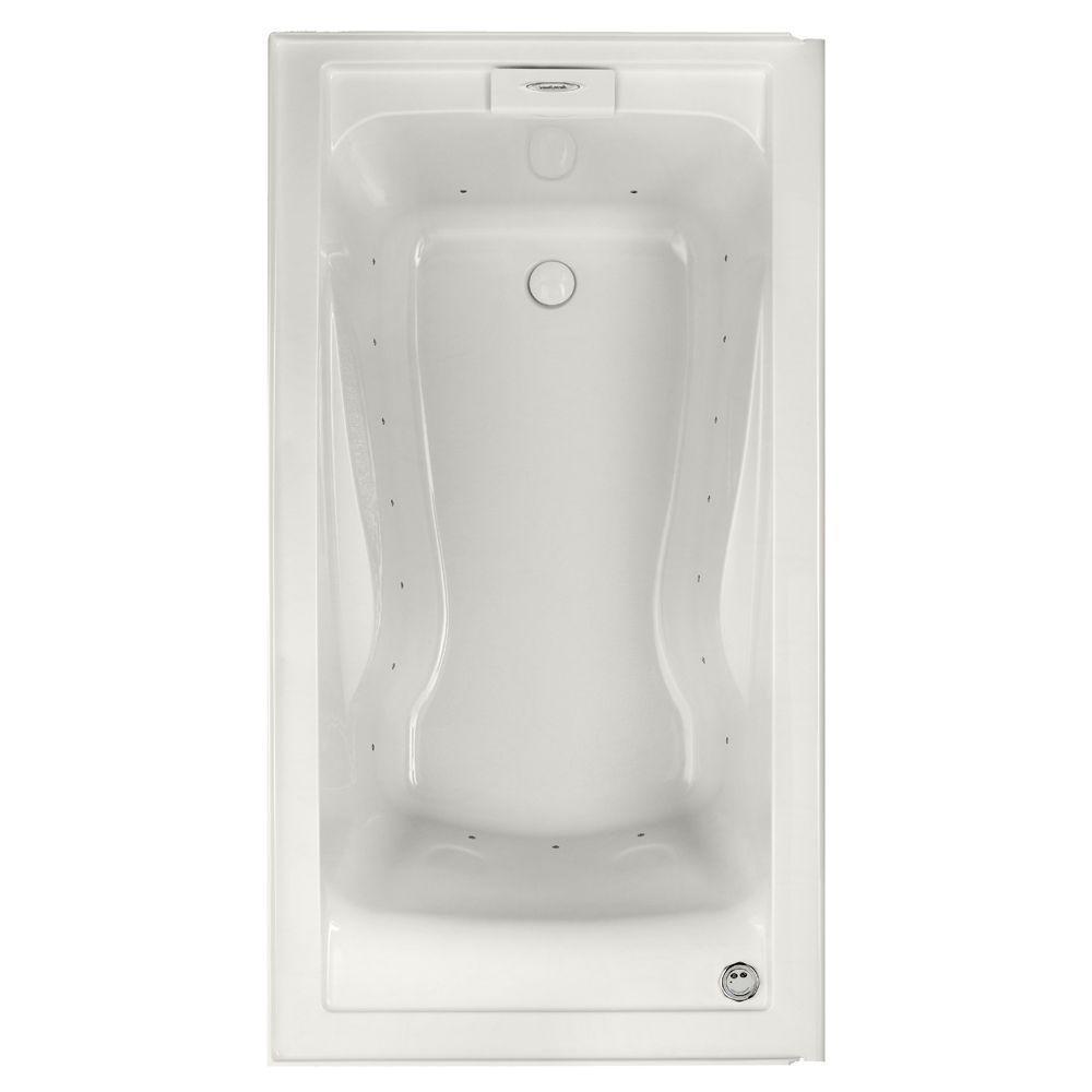 Evolution 60 in. Acrylic Right Drain Rectangular Alcove Air Bath Bathtub in White