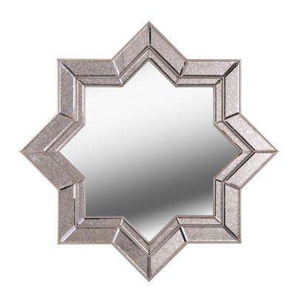 Polaris Star Champagne Wall Mirror