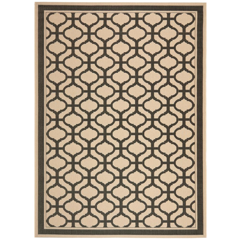 Black Graphic Woven Emerson Indoor Outdoor Area Rug: Safavieh Martha Stewart Cream/Black 8 Ft. X 11 Ft. 2 In