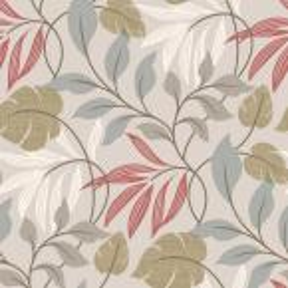 Eden Grey Modern Leaf Trail Wallpaper