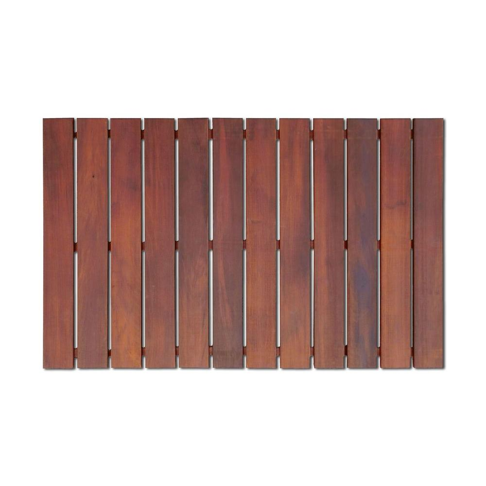 Roll Out Wood Deck Tile In Brown Color