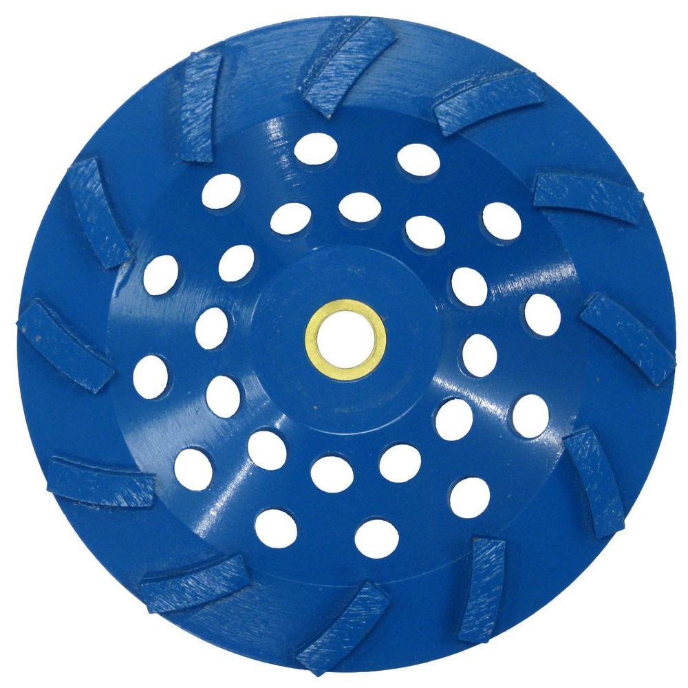 RIDGID 7 in. Blue 12-Segment Turbo Cup Grinding Wheel