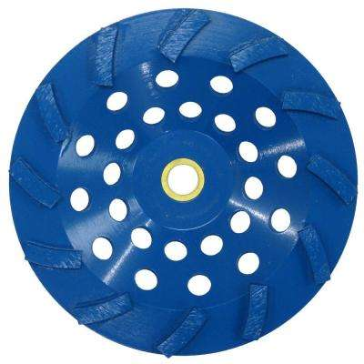 7 in. Blue 12-Segment Turbo Cup Grinding Wheel