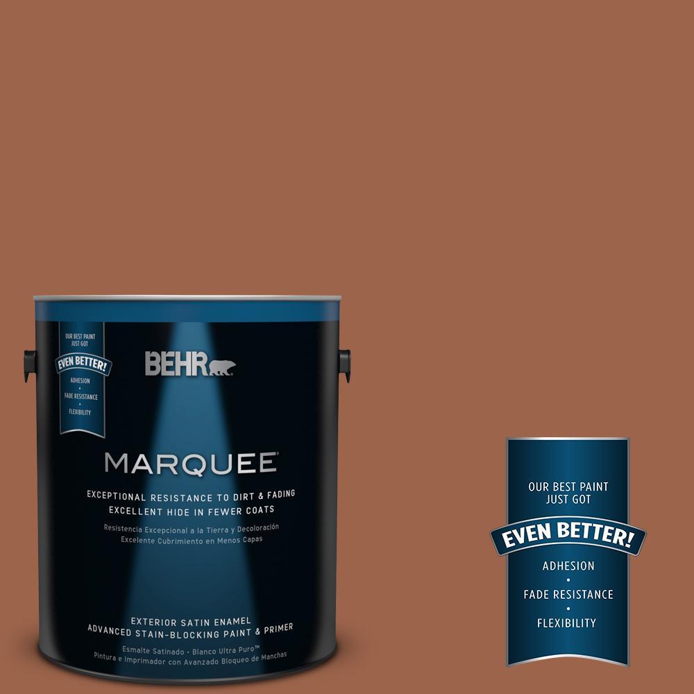 BEHR MARQUEE 1-gal. #UL120-4 Antique Copper Satin Enamel Exterior Paint