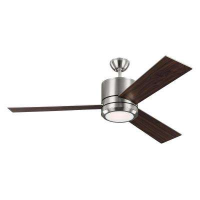 Vision Max 56 in. Indoor/Outdoor Brushed Steel Ceiling Fan