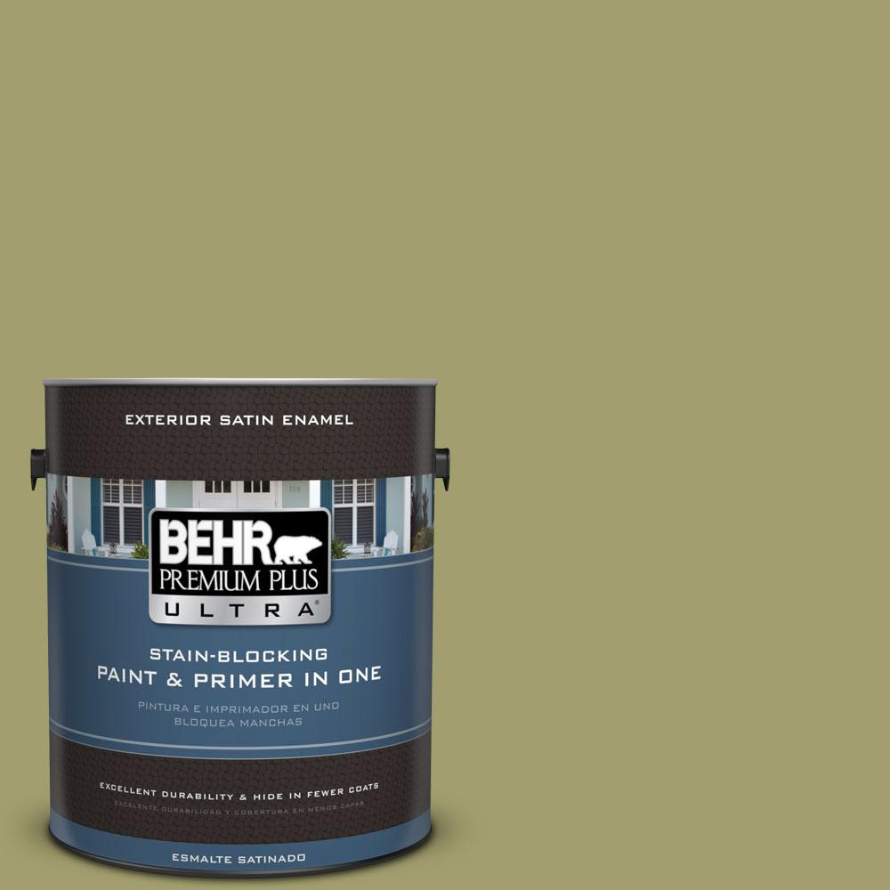 BEHR Premium Plus Ultra 1-gal. #S340-5 Farm Fresh Satin Enamel Exterior Paint