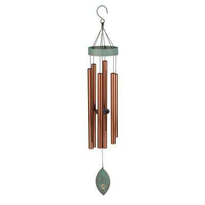 Precision-Tuned Patina Breeze 40 in. Bronze Wind Chime