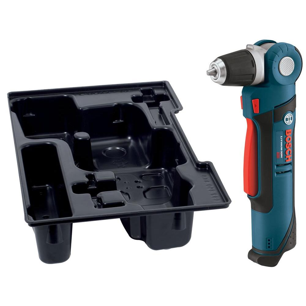 Bosch 12 Volt Lithium-Ion Cordless 3/8 in. Variable Speed Right Angle Drill/Driver with Exact Fit Insert Tray (Tool-Only)