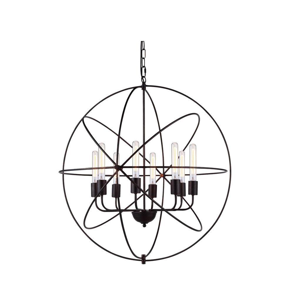 Vienna 8-Light Dark Bronze Pendant Lamp