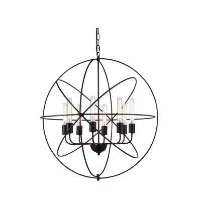Vienna 8-Light Dark Bronze Pendant Lamp