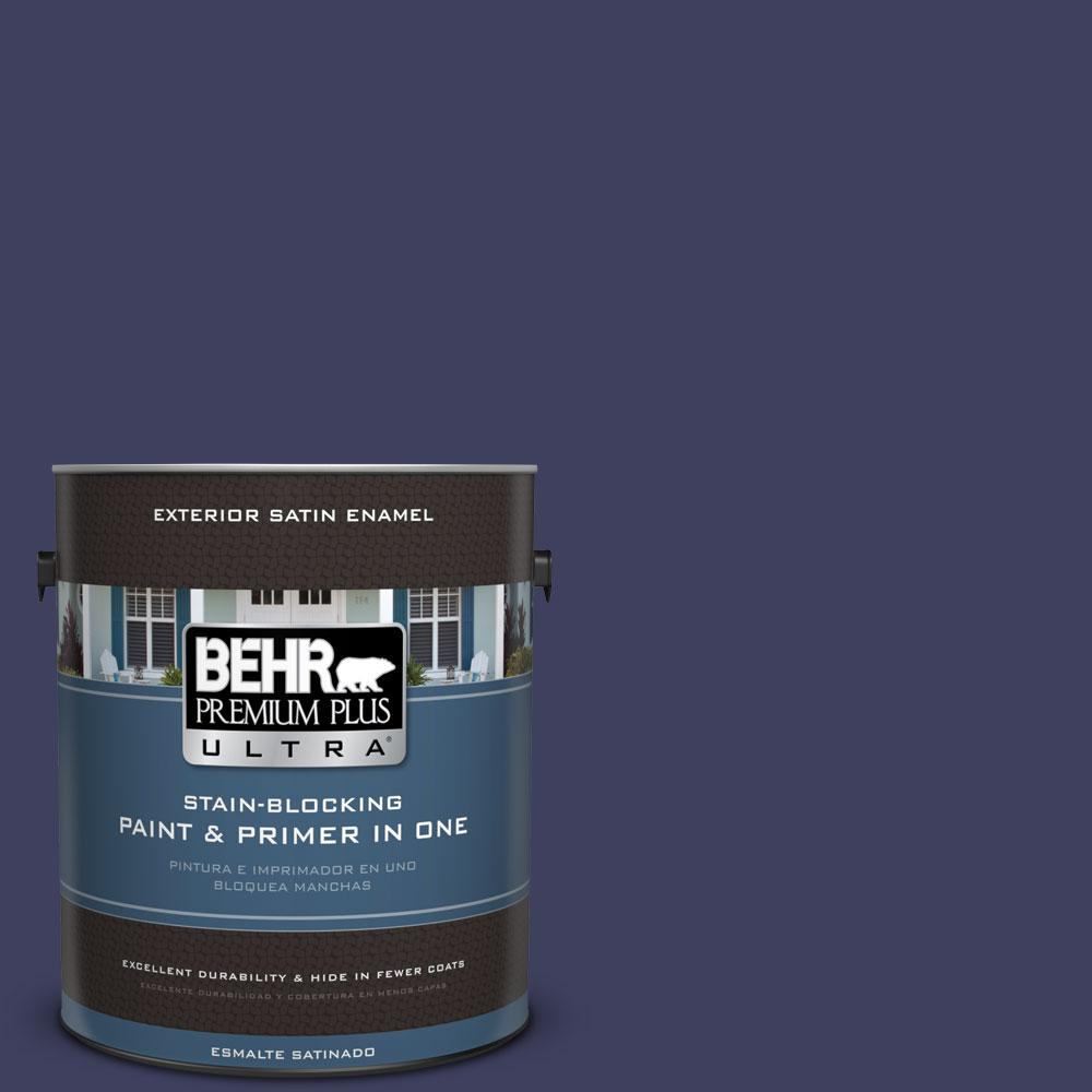 BEHR Premium Plus Ultra Home Decorators Collection 1-gal. #HDC-MD-01 Majestic Blue Satin Enamel Exterior Paint