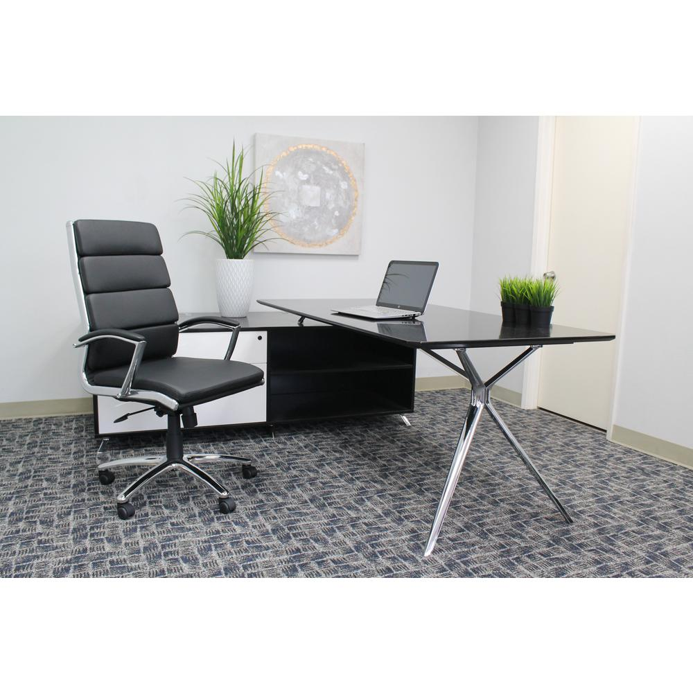 Boss Black Caressoftplus Chair B9471 Bk The Home Depot
