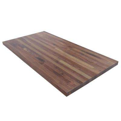 36 in. L x 25 in. D x 1.5 in. T Walnut Butcher Block Countertop in Clear Satin