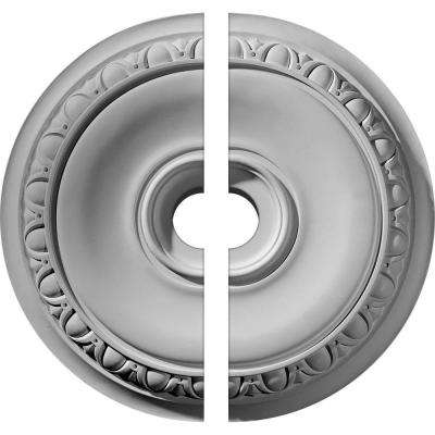 24-1/4 in. O.D. x 3-1/2 in. I.D. x 1-1/2 in. P Caputo Ceiling Medallion (2-Piece)