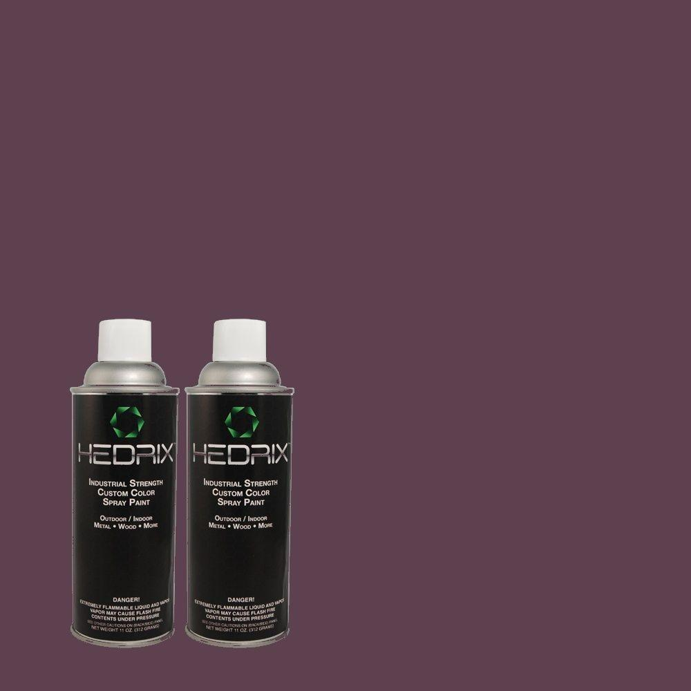 Hedrix 11 oz. Match of S-H-660 Blackberry Harvest Flat Custom Spray Paint (2-Pack)