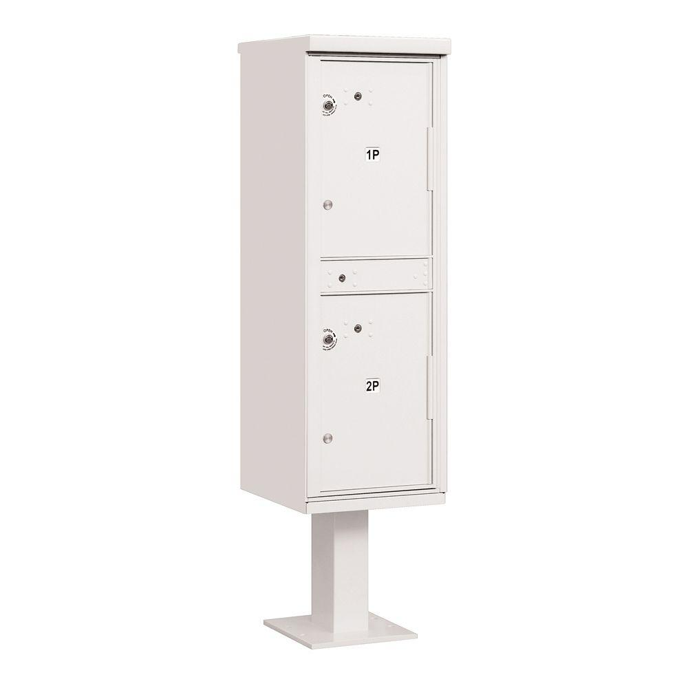 3300 Series USPS 2-Compartments Outdoor Parcel Locker in White