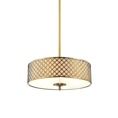 Gloria 5-Light French Gold Chandelier with Beige shade