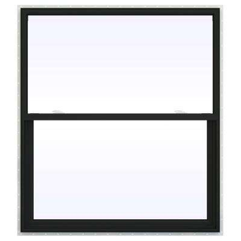 48 in. x 60 in. V-2500 Series Bronze FiniShield Vinyl Single Hung Window with Fiberglass Mesh Screen