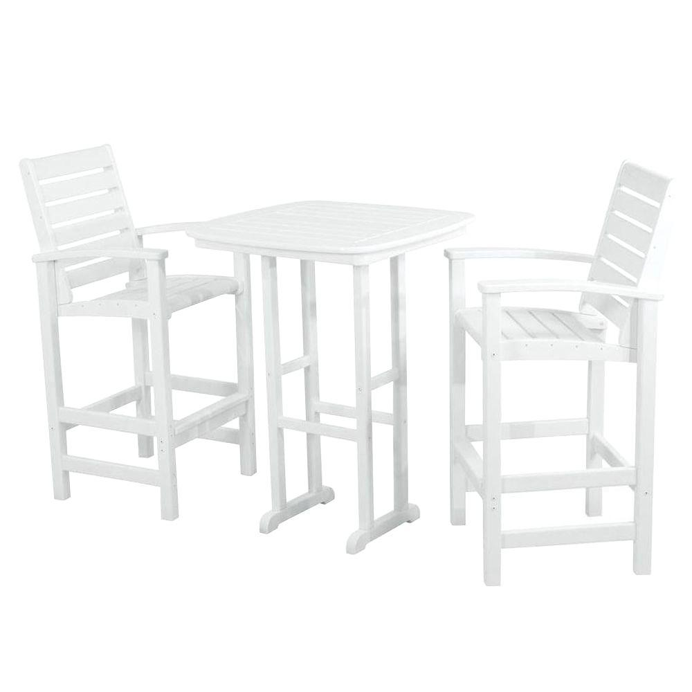 Polywood White Bar Set Photo