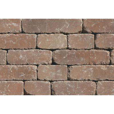 Lakeland I 8 in. L x 12 in. W x 4 in. H Desert Tumbled Concrete Garden Wall Block (20-Pack)