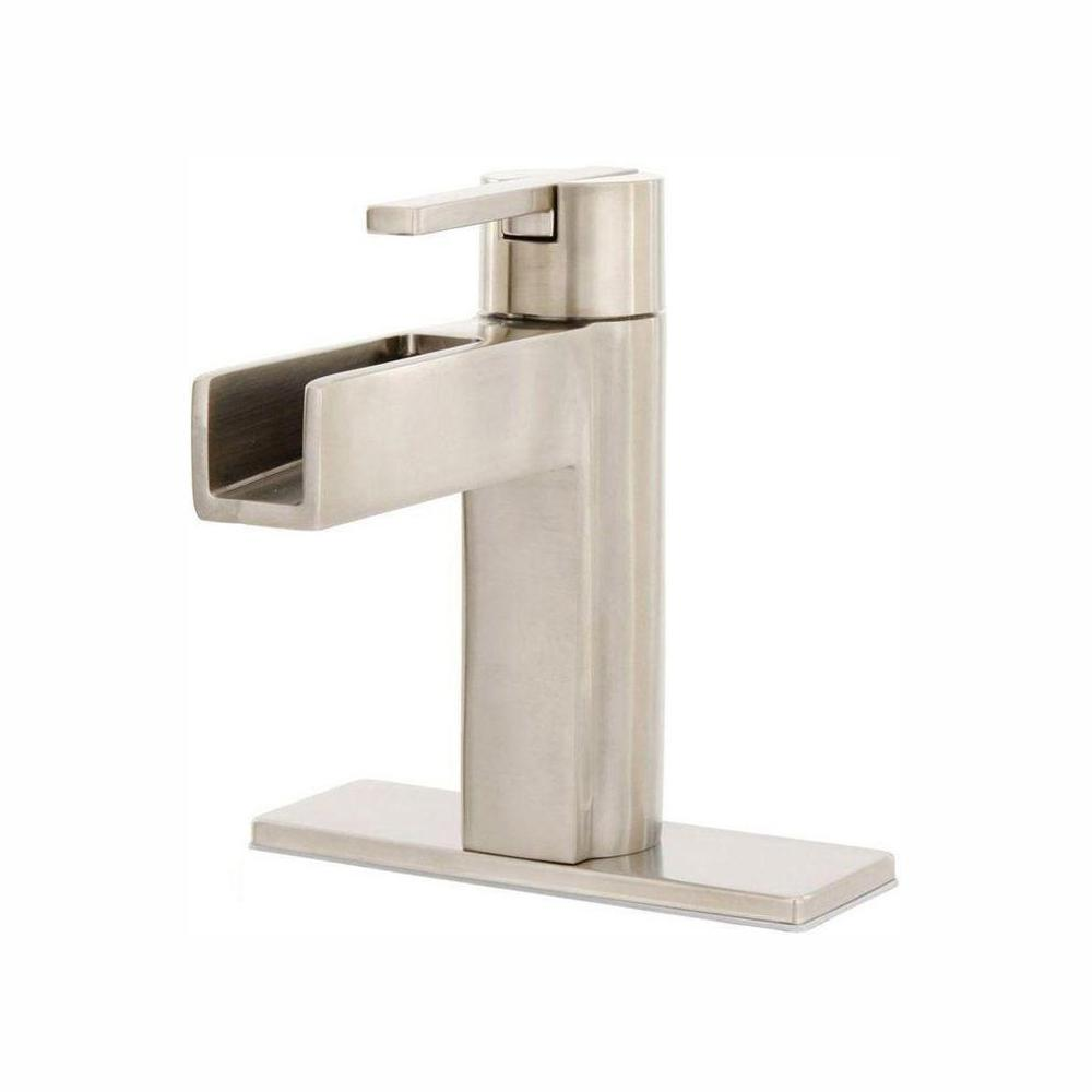 Pfister Pfister Vega Single Hole Single-Handle Bathroom Faucet in Brushed Nickel