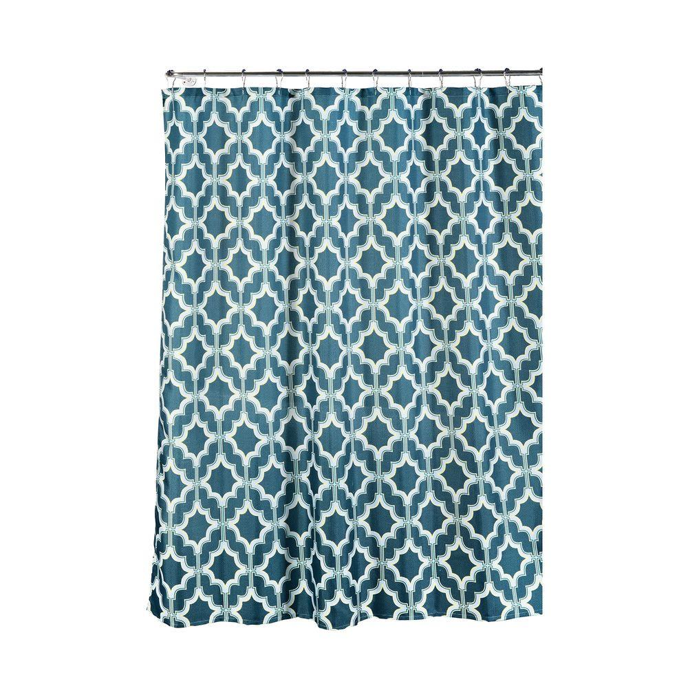 Faux Linen Textured 70 in. W x 72 in. L Shower
