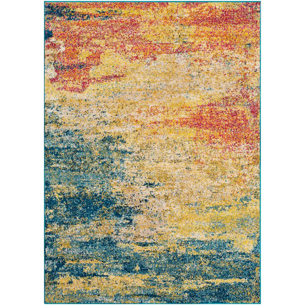 Artistic Weavers Lisbon Yellow/Teal 7 Ft. 10 In. X 10 Ft
