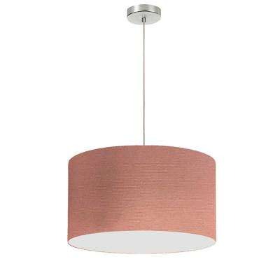 1 Light Dusty Rose Pendant With Electroplated Steel Shade