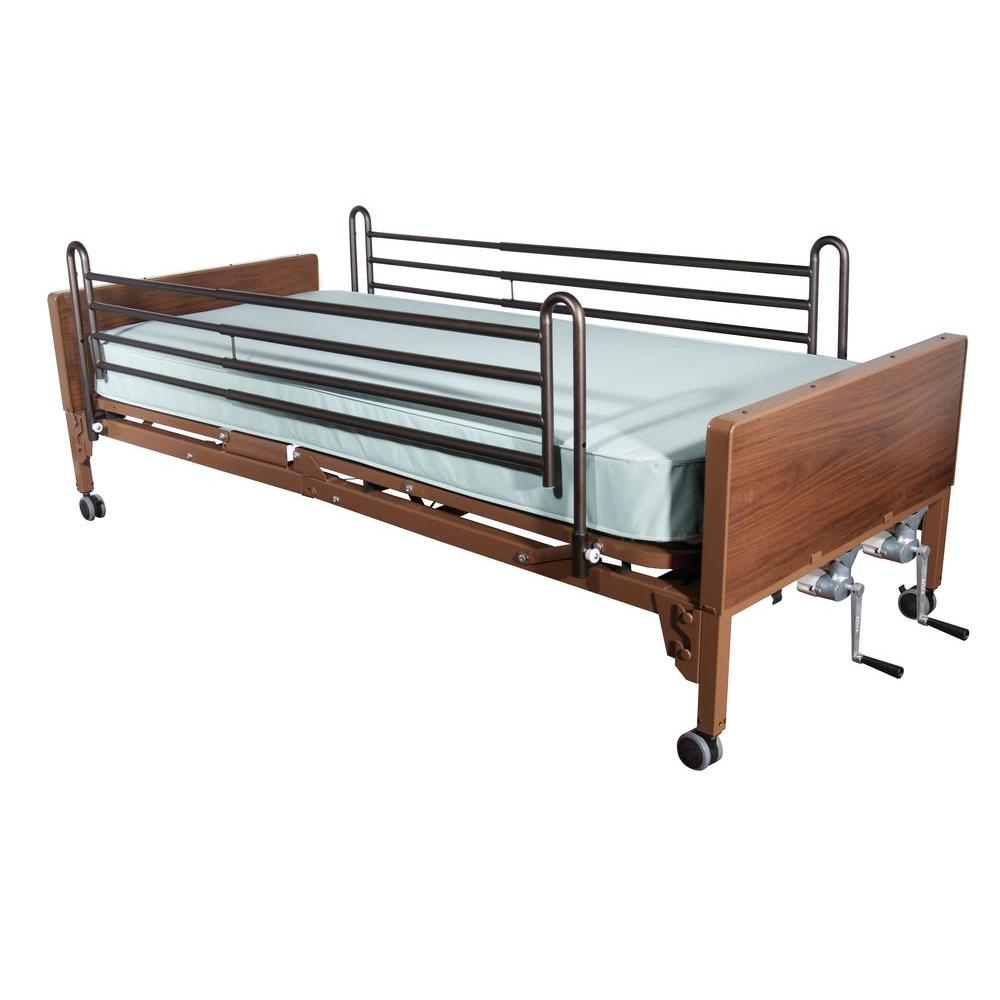 Drive Multi Height Manual Hospital Bed with Full Rails an...