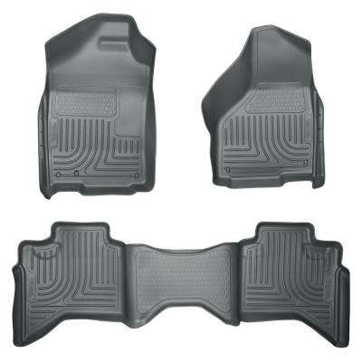 Front & 2nd Seat Floor Liners Fits 02-08 Ram 1500 Quad Cab